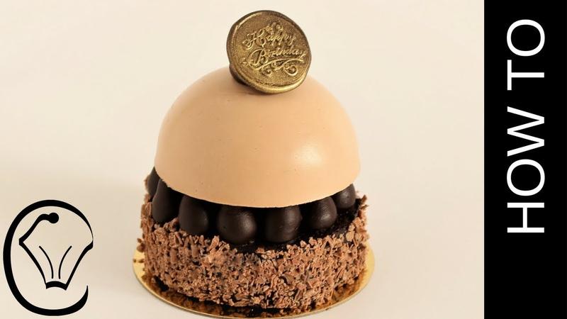 (vk.com/lakomkavk) Toblerone Brownie Cheesecake Mousse Dome Entremet by Cupcake Savvy's Kitchen