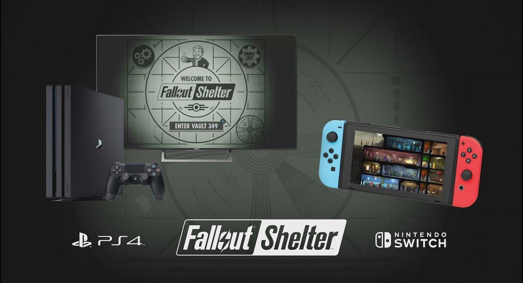 FalloutShelter на PS4 и на Nintendo Switch уже доступна