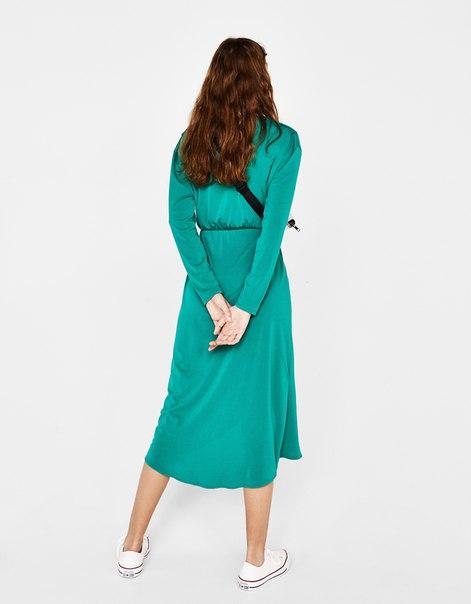 Платье миди асимметричного кроя