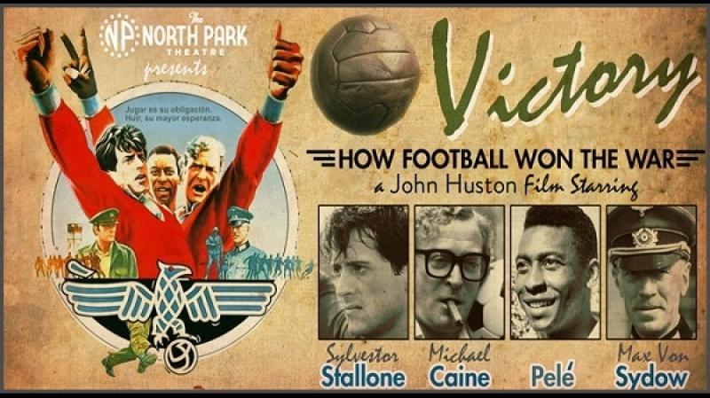 1981 John Huston Victory Sylvester Stallone Michael Caine Pelé Max von Sydow