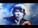 Watercolor Monochrome Portrait Tutorial (Stephen William Hawking) / 인물수채화, 얼굴그리기, 단색화