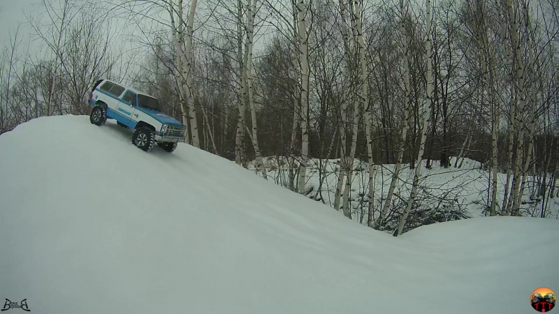 Зимняя прогулка и тест резины. MST CFX-W Chevy Blazer K5