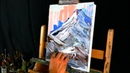 Mountains simple pallet knife abstract painting techniques