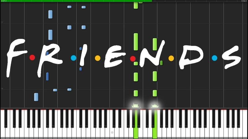 Friends Intro Theme [Piano Tutorial] (Synthesia) Fontenele NXT