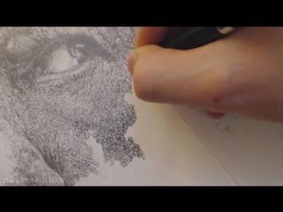 Рисуем Гендальфа (time-lapse)