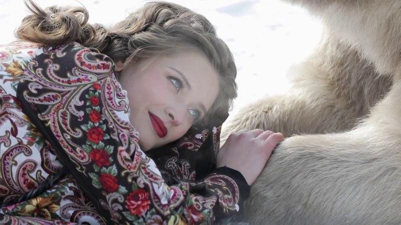 Фотосессия с медведем Степаном в русском костюме