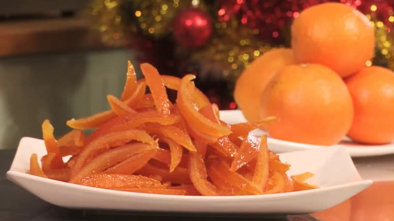 Цукаты из корок апельсина