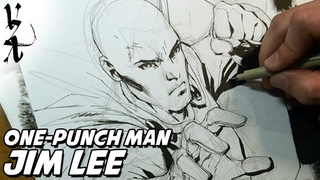 Jim Lee drawing One-Punch Man