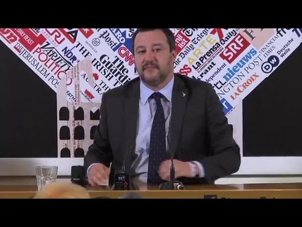 MATTEO SALVINI in diretta dalla sede della Stampa Estera di ROMA (10.12.2018)