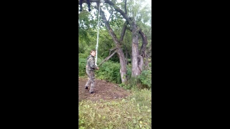падение с дерева