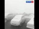 На севере Красноярского края - в Норильске, в середине июля выпал снег.