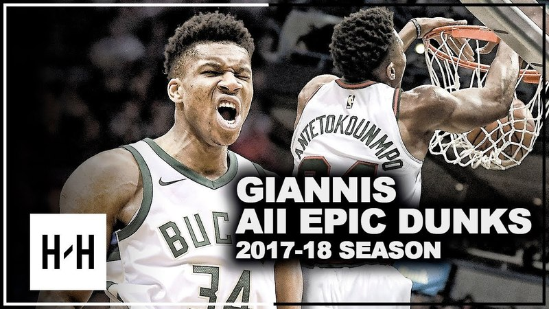 Giannis Antetokounmpo ALL EPIC DUNKS from 2017-2018 NBA Season! UNREAL Compilation!