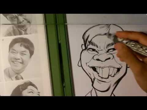 How to Draw a Caricature - Caricature Demonstration