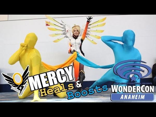 Overwatch - Mercy Heals Boosts WonderCon 2018 - With Kate Sarkissian