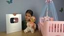 СЕРЕБРЯНАЯ Кнопка YouTube ПОДАРКИ Кукла Любимая малютка Baby Alive и кроватка BABY ANNABELL