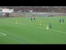 Fussballtraining Blickwinkel Torschuss Technik