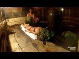Парение девушки в бане. Скрытая камера .