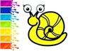 Сoloring Learn colors Drawing snail | Учим Цвета Рисуем Улитку Раскраска