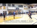Steph Curry shoots, kicks a ball, then DUNKS (then kickball), day before 2nd MCL re-evaluation