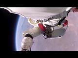 Прыжок из космоса 40 км, русский перевод, аж дух захватывает