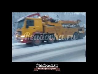 Две фуры разбросало по дороге в Смоленской области