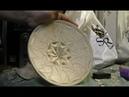 Большая розетка на тарелке применяю уголок 90 градусов
