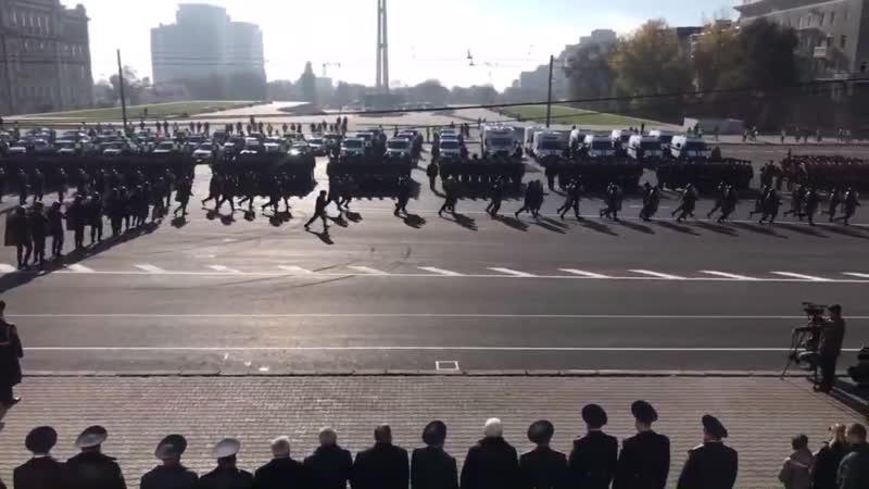Полицейская сходка Парада в честь Дня сотрудника органов внутренних дел Российской Федерации