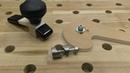 Крепёж материала для перфорированного стола