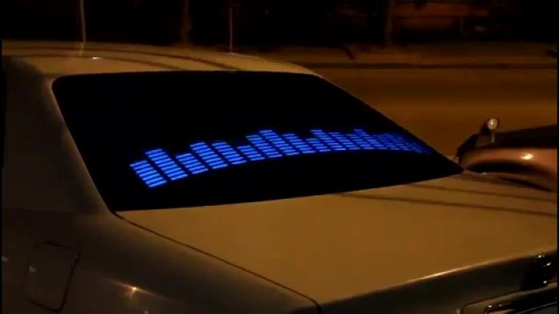 Эквалайзер на стекло автомобиля с Алиэкспресс