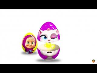Учим Цвета и Яйца с Сюрпризом