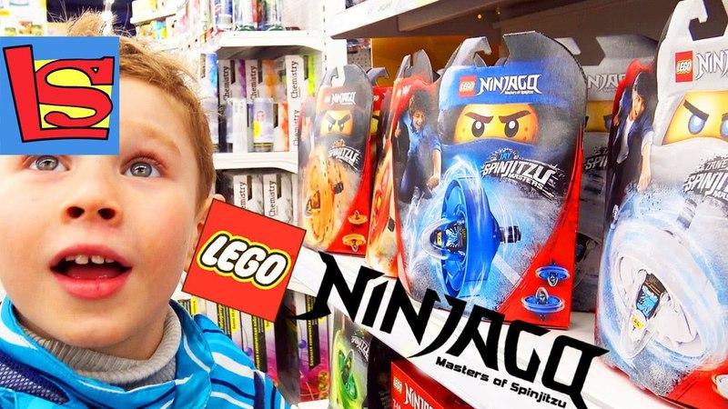 Покупаем новые LEGO NINJAGO игрушки набор пластилин ПЛЕЙ ДО МИСТЕР ЗУБАСТИК и космический песок Vlog