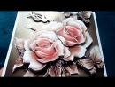 ПАПЕРТОЛЬ Карамельные розы (готовая работа)