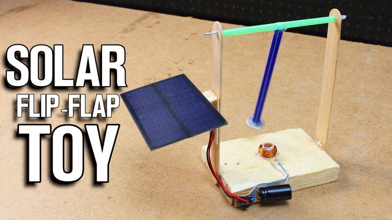 How To Make Solar Flip Flap Toy - Electromagnetic Pendulum