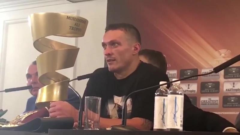 Александр Усик: Эту победу посвящаю отцам