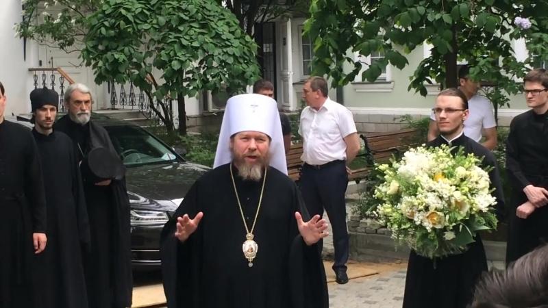 Прощальная речь владыки Тихона обращённая к братии монастыря семинаристам трудникам и прихожанам