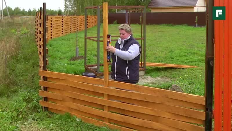 Дачный плетеный забор из дерева своими руками Строительные лайфхаки