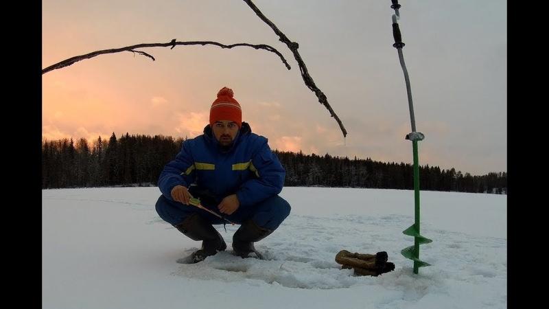 Поиск окуня на лесной трудно доступной ламбе в Карелии 08.12.2018г