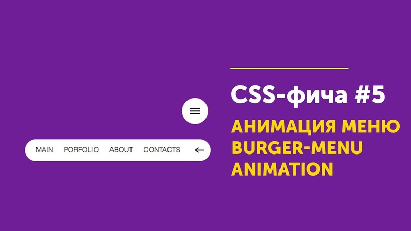 CSS фича 5 ➤ Анимация для меню   Menu CSS3 Animation