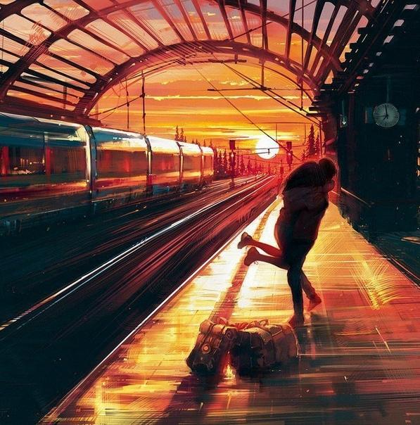 «Обещание» Есть в поездах какая-то особая романтика. Сколько людей отправились за горизонт, в никуда, навсегда. Когда поезд несет тебя все дальше от родных мест и людей, с каждым метром боль в
