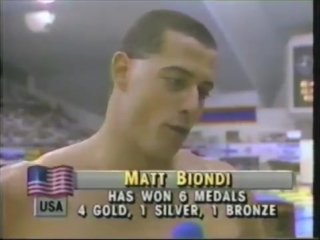 1988 Olympic Games - Swimming - Mens 50 Meter Freestyle - Matt Biondi USA