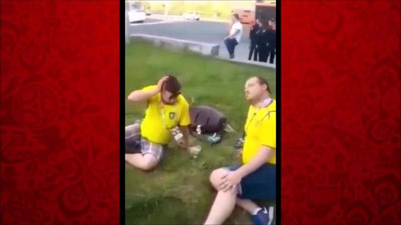 Европейская пьянь в Нижнем Новгороде на ЧМ-2018.
