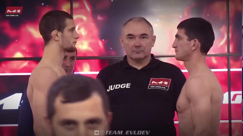 Церемония взвешивания к 5-му бою Селема Евлоева