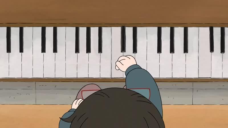We Bare Bears《Chloe And Ice Bear Duet Piano》Happy Again Song HD.mp4