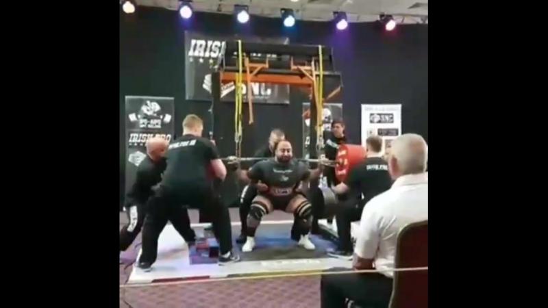 Захир Худояров присед 430 кг