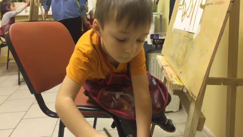 Студия на Королева, 65🎨Группа 5-6 лет. Преподаватель Анастасия Корсакова 😌💖 РИСУЕМ ПАНДОЧКУ 🐼🐼