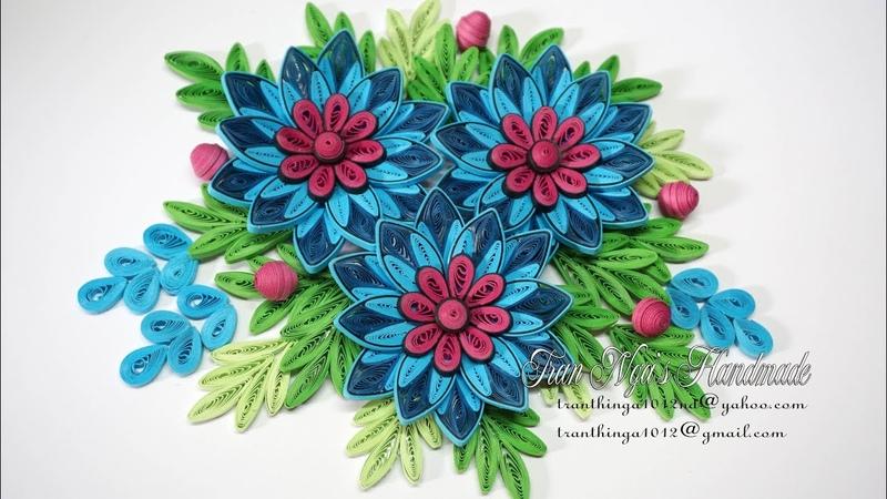 Quilling Flower V8 Tutorial | DIY Paper Flower Handmade Decoration