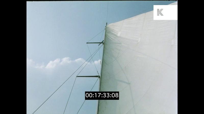 Sailing on Lake Balaton, 1970s Hungary in HD