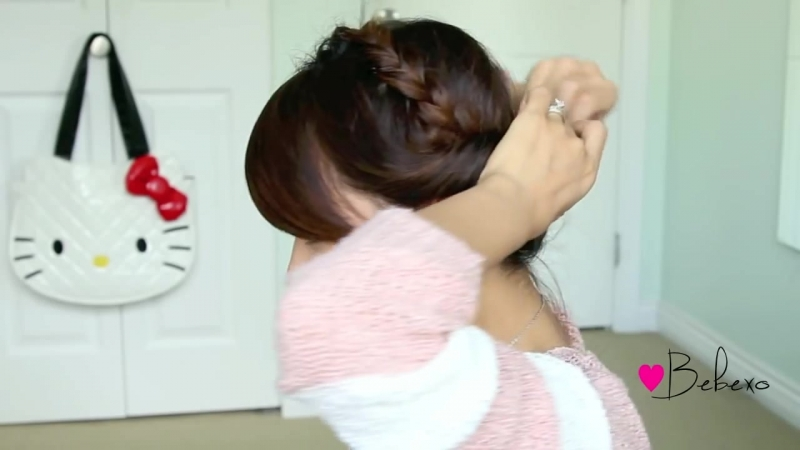 Fold-over Lace Braid Updo Hairstyle Hair Tutorial (1)
