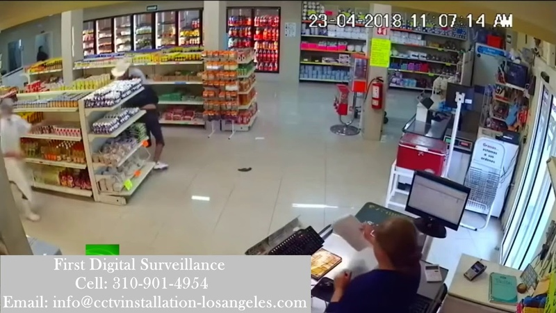 Hero 'cowboy' takes down armed robber with bare hands |CCTV security camera caught robbery