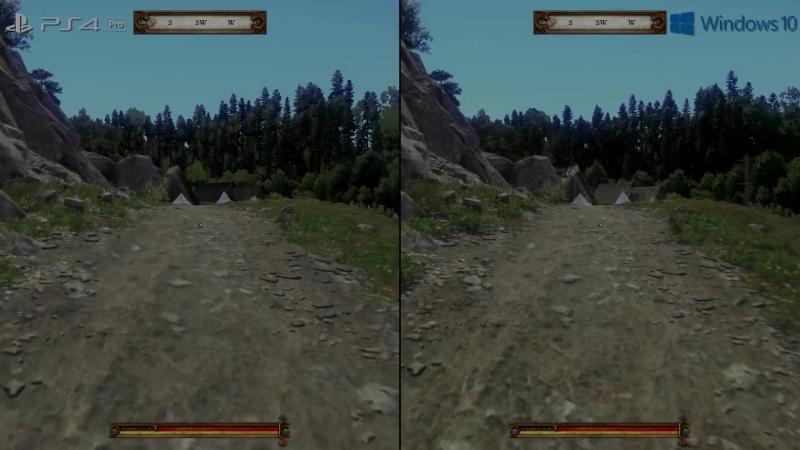Kingdom Come Deliverance PC vs PS4 Pro Graphics Comparison Frame-Rate Test